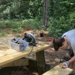 Repairing Picnic Table The Nettwork Campus Gwinnett County